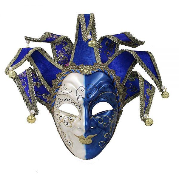 Masca venetiana decorativa Blue Joker
