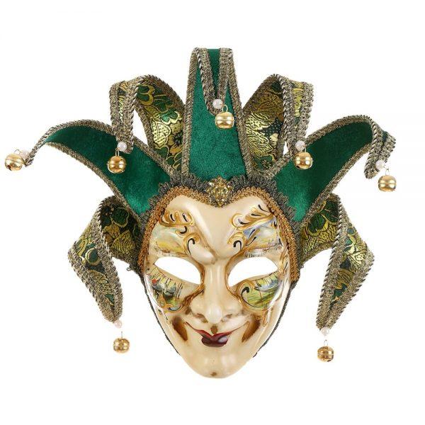 Masca venetiana decorativa Green Joker