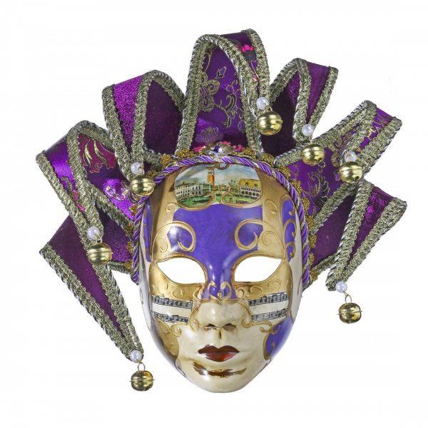 Masca venetiana decorativa Purple Phantom