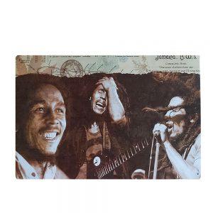Placa metalica Bob Marley poster vintage