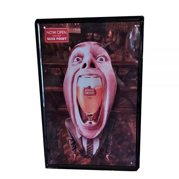 Placa metalica Great Stella poster vintage
