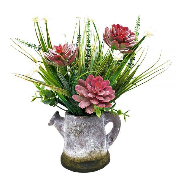 Plante suculente artificiale in ghiveci Arizona roz