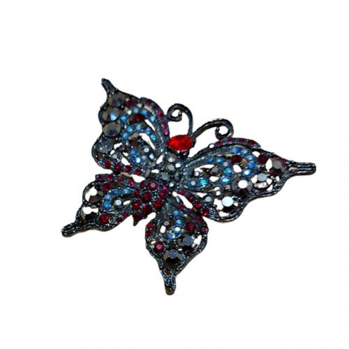 Brosa fluture argintiu Simone metal 7cm