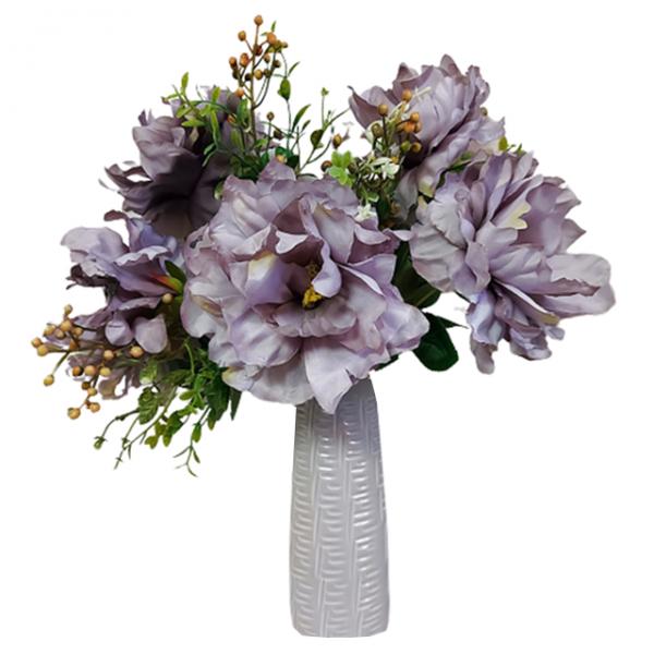 Buchet bujori artificiali Purple Beatrice