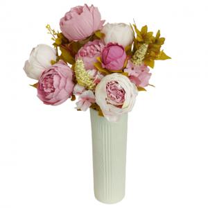 Buchet bujori artificiali roz Taffy Berenice