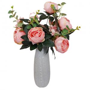 Buchet bujori roz artificiali Sand Genevieve 45cm