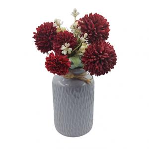 Buchet crizanteme artificiale Burgundy Natalie