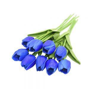 Buchet lalele artificiale albastre Tulipe 34cm