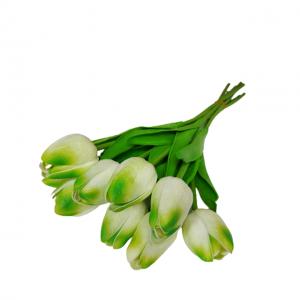 Buchet lalele artificiale albe Crazy Tulipe