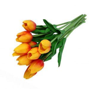Buchet lalele artificiale galbene Crazy Tulipe