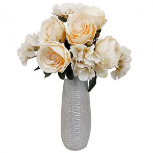 Buchet trandafiri artificiali Cream Caroline 45cm
