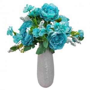 Buchet trandafiri artificiali albastri Amelie 45cm