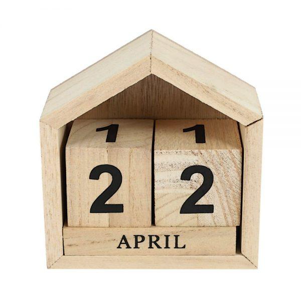 Calendar lemn Steven vintage 11x11cm