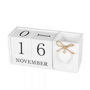 Calendar lemn Roger cu suport pixuri