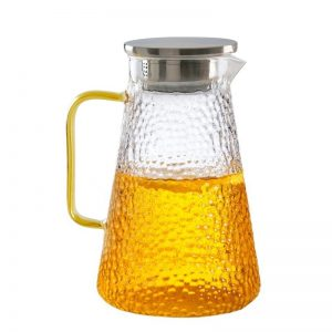 Carafa sticla borosilicata Jonas 1500ml, Infuzor cu filtru