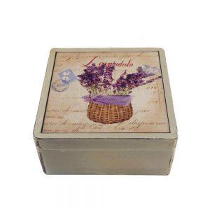 Cutie lemn Lavender Perfume 16x16x7cm