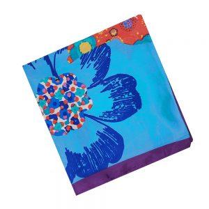 Esarfa satin Melissa 90x90cm batic multicolor