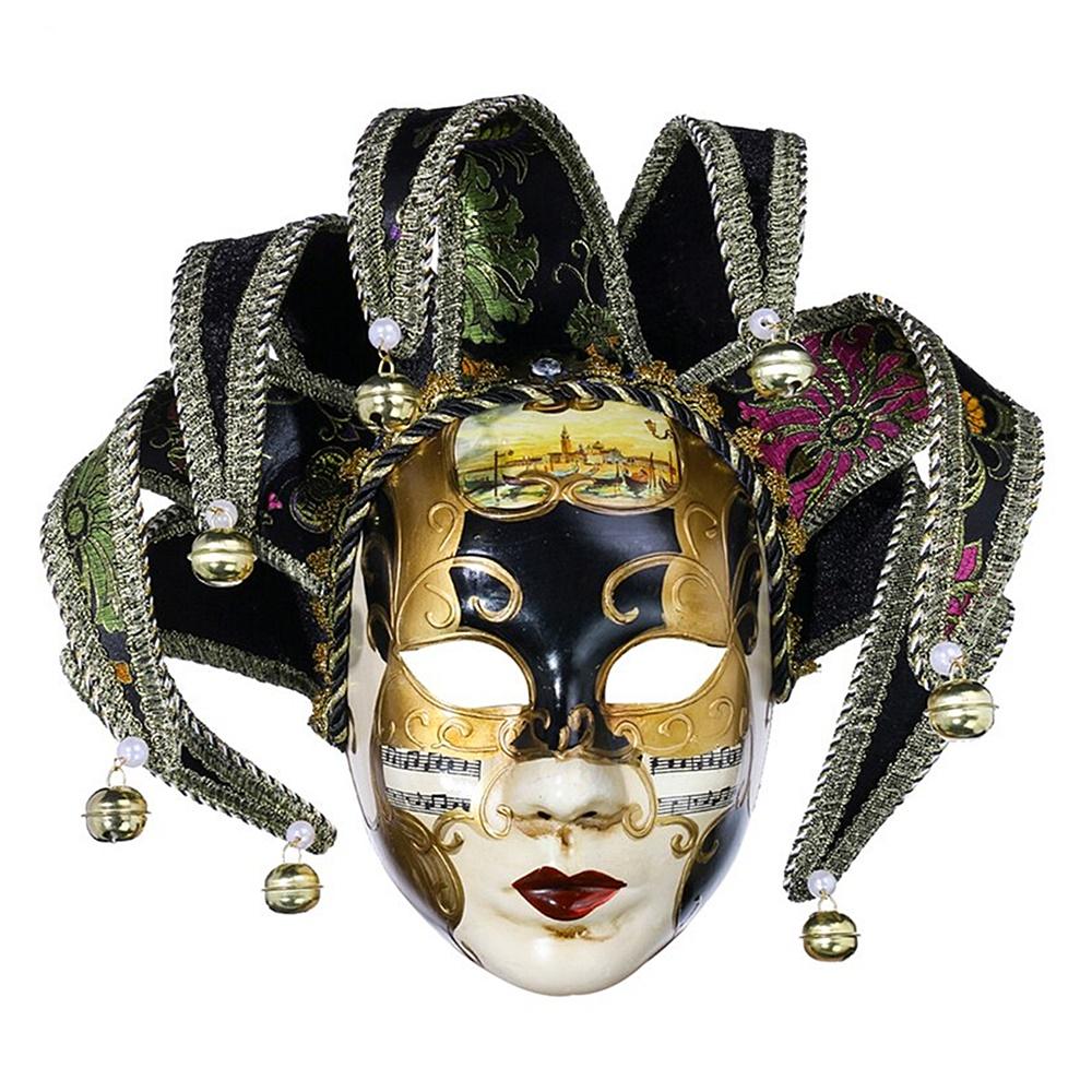 Masca venetiana decorativa Black Phantom