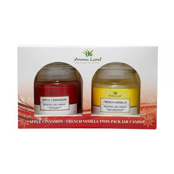 Set 2 lumanari parfumate Apple Cinnamon & French Vanilla