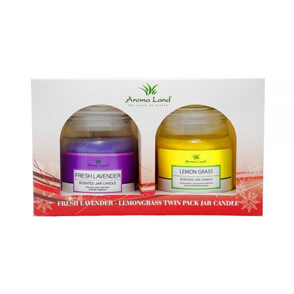 Set 2 lumanari parfumate Lavender & Lemon Grass