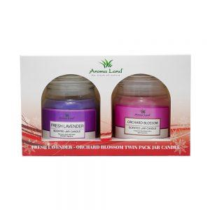 Set 2 lumanari parfumate Lavender & Orchard Blossom