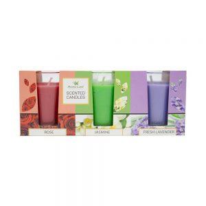 Set 3 lumanari parfumate Lavender & Jasmine & Rose