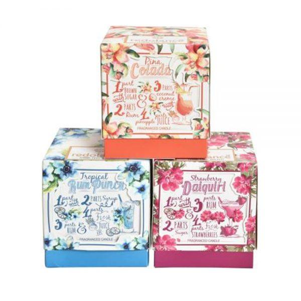 Set 3 lumanari parfumate Luxury Summer