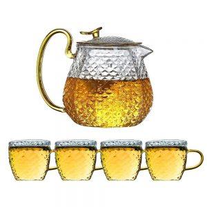 Set ceainic & cesti sticla borosilicata Jonas