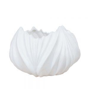 Vaza ceramica Tulipe alba 17x10cm