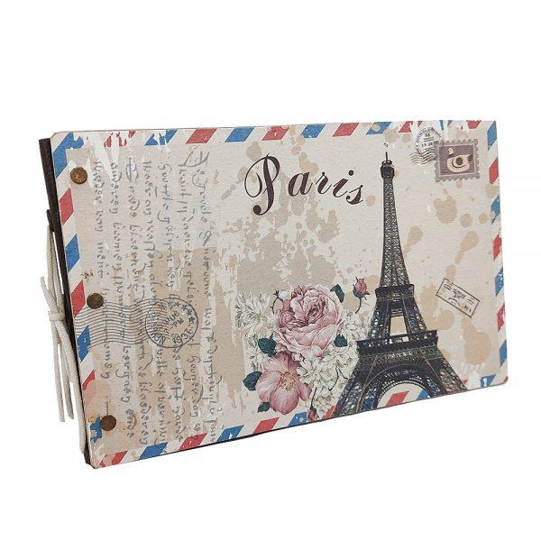 Album foto retro Paris 23x15cm scrapbook DIY