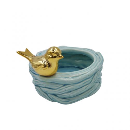 Bol ceramica Sweet Bird albastru 12cm