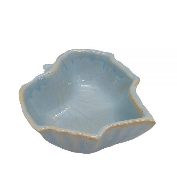 Bol servire snack Leaf ceramica 12x13x6cm