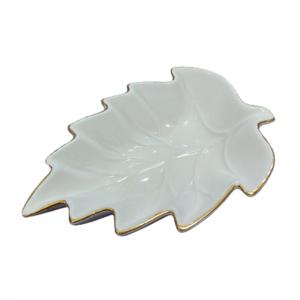 Bol servire snack Leaf ceramica 13x9cm