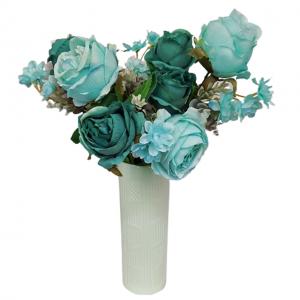 Buchet trandafiri albastri Turquoise Claudette 45cm