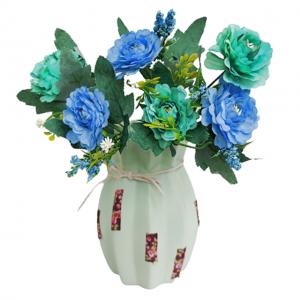 Buchet trandafiri artificiali albastri Annelise