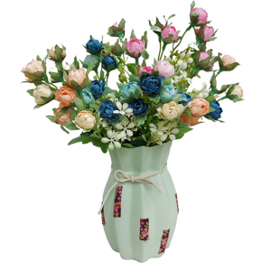 Buchet trandafiri artificiali multicolori Drew 30cm