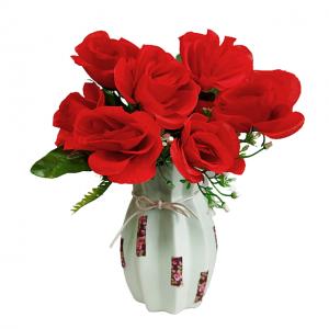 Buchet trandafiri artificiali rosii Charlene