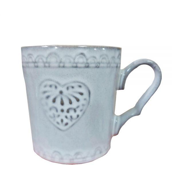 Cana Antique Heart 280ml ceramica vintage