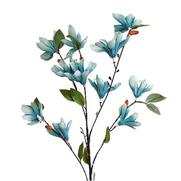 Flori artificiale albastre Francine crenguta 85cm