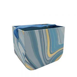 Cutie cadou flori Blue Paint 16x13x12cm