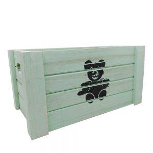 Cutie depozitare Bear lemn 19x29x16cm