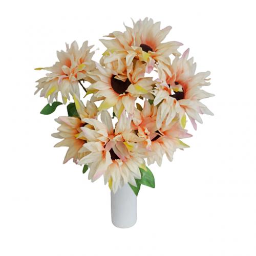 Floarea Soarelui artificiala Peach Sunny 50cm
