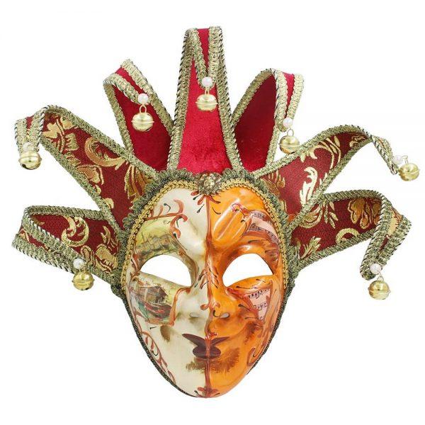 Masca venetiana decorativa Burgundy Joker