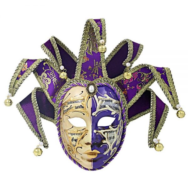 Masca venetiana decorativa Purple Jester