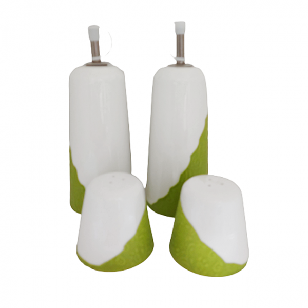 Oliviera completa Green Touch, Set 4 piese ceramica