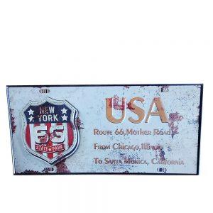 Placa lemn vintage Route 66 USA