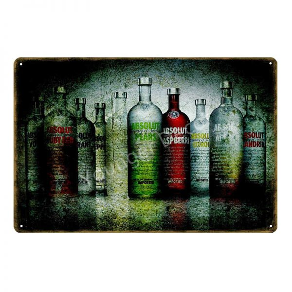 Placa metalica Absolut Vodka poster vintage