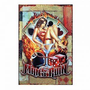 Placa metalica Man's Ruin poster vintage