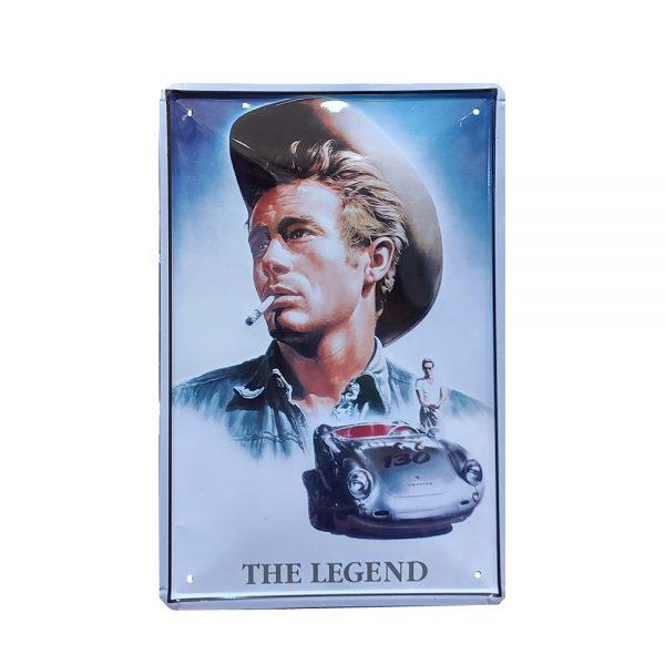 Placa metalica The Legend - James Dean