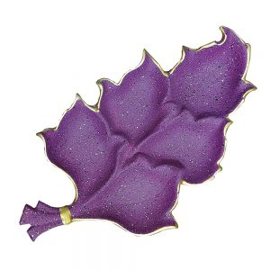 Platou ceramica Purple Leaf 38x22cm